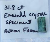 North Carolina Emerald, Adams Farm 31.8 carats