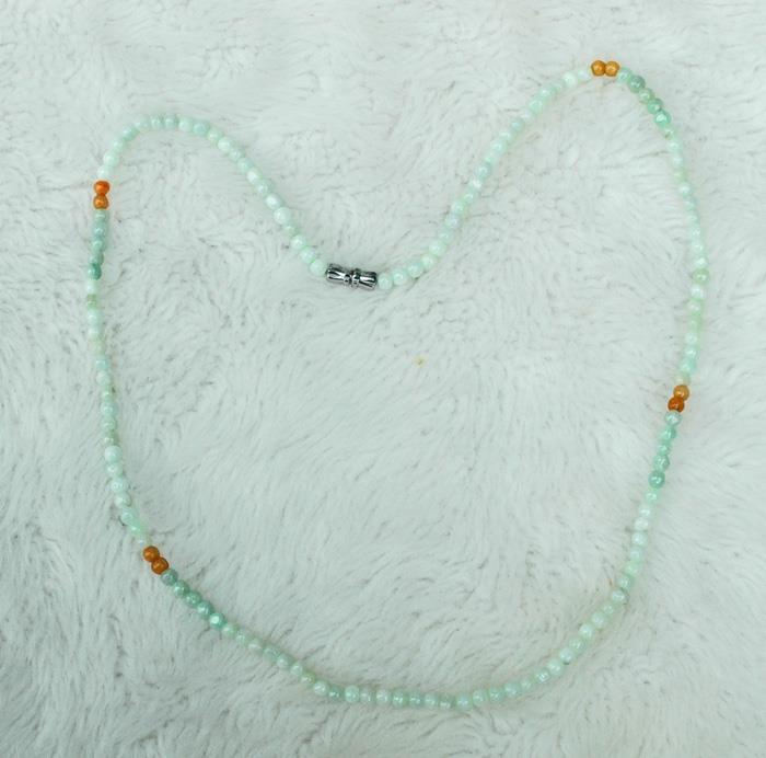 Image for Undyed Natural Jadeite 4mm String 76 tcw