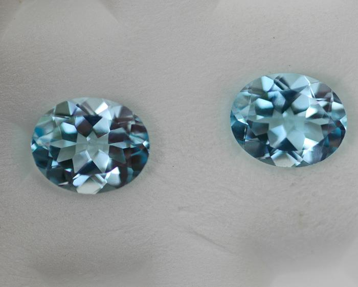 Image for Nigeria Light Swiss Blue Topaz Pair 8.30 TCW