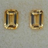 Image for Brazilian Natural Citrine Matched Pair 1.80 tcw.