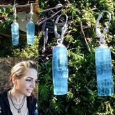 Image for Vietnam Double Blue Aquamarine Crystal Earrings