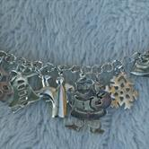 Image for Christmas Charm Bracelet Sterling Silver 7 1/2 inch