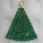 Image for Burma Natural Jadeite Carved pendant 18kt yellow gold