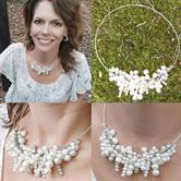 Image for Sterling Silver and Freshwater pearl collar Necklace